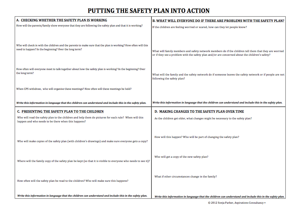 Safety Plan Template Printing Muster Lists Safety Plans And Gas